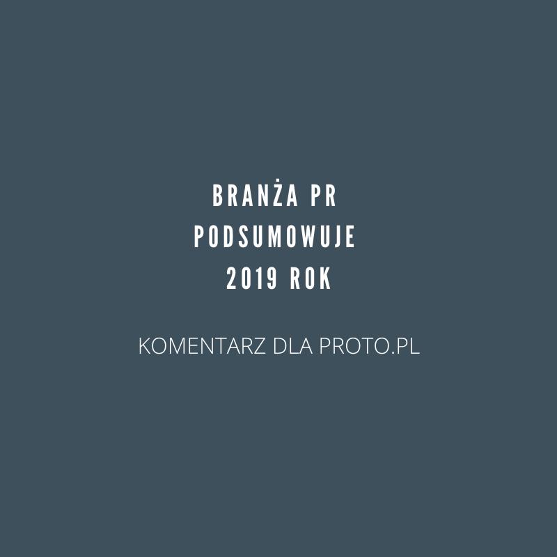 Public Relations w 2019 – podsumowanie dla PRoto.pl
