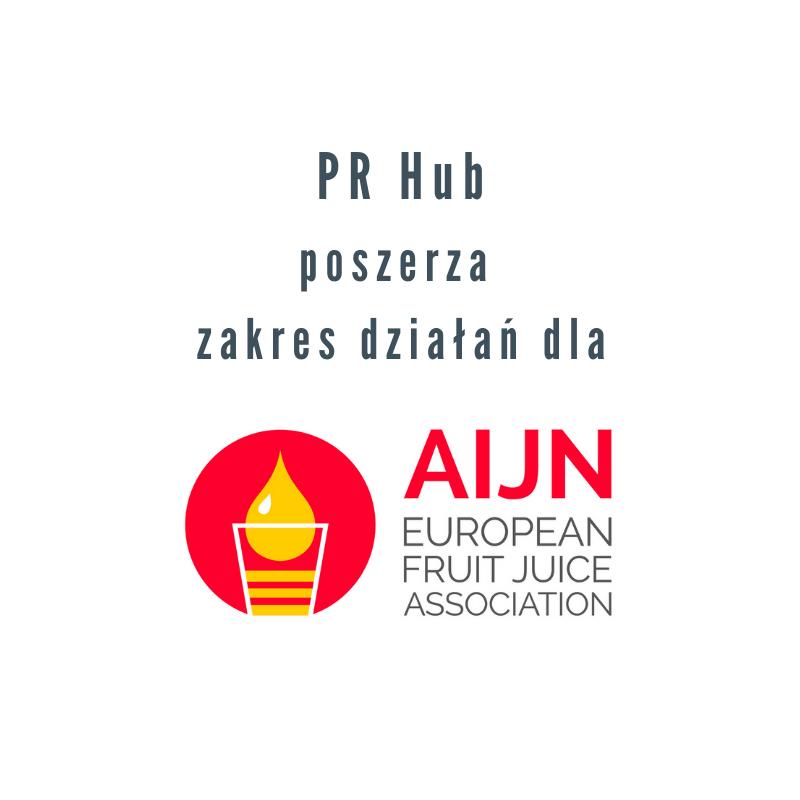 PR Hub wdraża działania w social mediach dla AIJN (Europejskiego Stowarzyszenia Soków Owocowych)