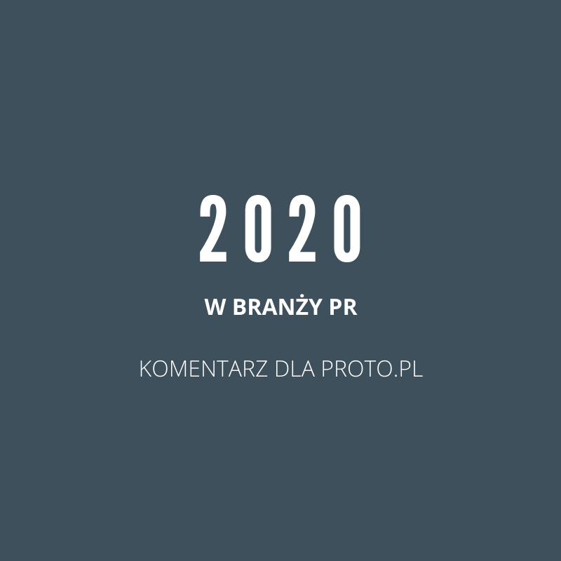 Branża PR w 2020 r.